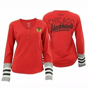 Reebok Chicago Blackhawks Womens Jersey Striped